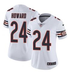 Women's Nike Chicago Bears #24 Jordan Howard White Vapor Untouchable Limited Player NFL Jersey
