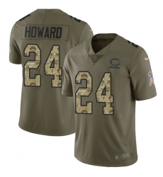 Youth Nike Chicago Bears #24 Jordan Howard Limited Olive/Camo Salute to Service NFL Jersey