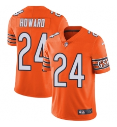 Youth Nike Chicago Bears #24 Jordan Howard Limited Orange Rush Vapor Untouchable NFL Jersey