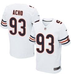 Men's Nike Chicago Bears #93 Sam Acho Elite White NFL Jersey