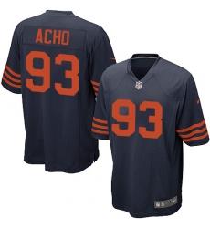 Men's Nike Chicago Bears #93 Sam Acho Game Navy Blue Alternate NFL Jersey