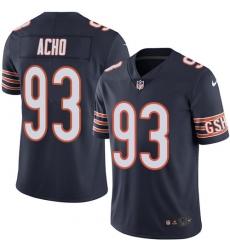Men's Nike Chicago Bears #93 Sam Acho Navy Blue Team Color Vapor Untouchable Limited Player NFL Jersey