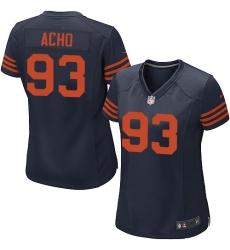 Women's Nike Chicago Bears #93 Sam Acho Game Navy Blue Alternate NFL Jersey