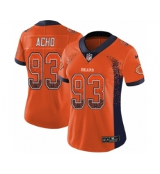 Women's Nike Chicago Bears #93 Sam Acho Limited Orange Rush Drift Fashion NFL Jersey