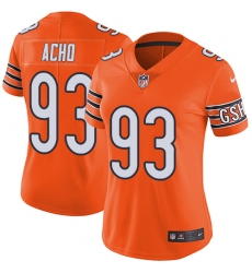 Women's Nike Chicago Bears #93 Sam Acho Limited Orange Rush Vapor Untouchable NFL Jersey