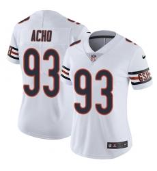 Women's Nike Chicago Bears #93 Sam Acho White Vapor Untouchable Elite Player NFL Jersey