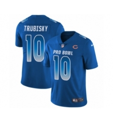 Men's Chicago Bears #10 Mitchell Trubisky Limited Royal Blue NFC 2019 Pro Bowl Football Jersey