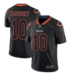 Men's Nike Chicago Bears #10 Mitchell Trubisky Limited Lights Out Black Rush NFL Jersey