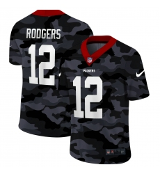 Men's Green Bay Packers #12 Aaron Rodgers Camo 2020 Nike Limited Jersey