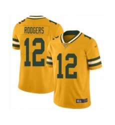 Women's Green Bay Packers #12 Aaron Rodgers Limited Gold Inverted Legend Football Jersey