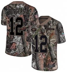 Youth Nike Green Bay Packers #12 Aaron Rodgers Limited Camo Rush Realtree NFL Jersey
