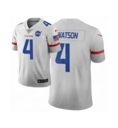 Men Houston Texans #4 Deshaun Watson White Vapor Limited City Edition Jersey