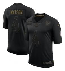 Men's Houston Texans #4 Deshaun Watson Black Nike 2020 Salute To Service Limited Jersey