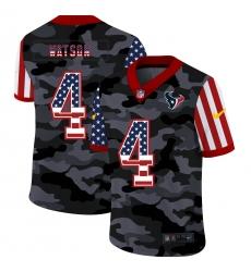 Men's Houston Texans #4 Deshaun Watson Camo Flag Nike Limited Jersey
