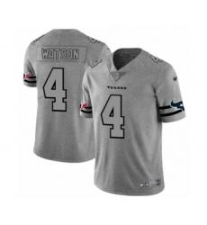 Men's Houston Texans #4 Deshaun Watson Limited Gray Team Logo Gridiron Football Jersey