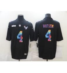 Men's Houston Texans #4 Deshaun Watson Rainbow Version Nike Limited Jersey
