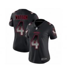 Women's Houston Texans #4 Deshaun Watson Limited Black Smoke Fashion Football Jersey