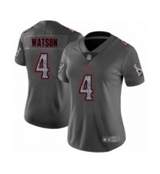 Women's Houston Texans #4 Deshaun Watson Limited Gray Static Fashion Football Jersey
