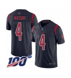 Youth Nike Houston Texans #4 Deshaun Watson Limited Navy Blue Rush Vapor Untouchable 100th Season NFL Jersey