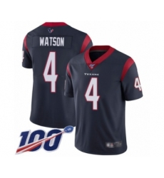 Youth Nike Houston Texans #4 Deshaun Watson Navy Blue Team Color Vapor Untouchable Limited Player 100th Season NFL Jersey