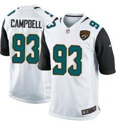 Men's Nike Jacksonville Jaguars #93 Calais Campbell Game White NFL Jersey