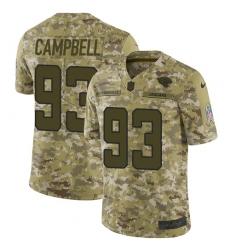 Men's Nike Jacksonville Jaguars #93 Calais Campbell Limited Camo 2018 Salute to Service NFL Jersey