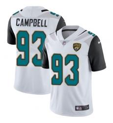 Men's Nike Jacksonville Jaguars #93 Calais Campbell White Vapor Untouchable Limited Player NFL Jersey