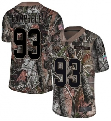 Youth Nike Jacksonville Jaguars #93 Calais Campbell Camo Rush Realtree Limited NFL Jersey