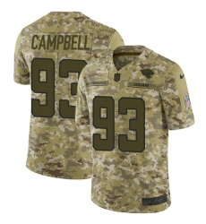 Youth Nike Jacksonville Jaguars #93 Calais Campbell Limited Camo 2018 Salute to Service NFL Jers