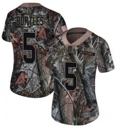 Women's Nike Jacksonville Jaguars #5 Blake Bortles Camo Rush Realtree Limited NFL Jersey