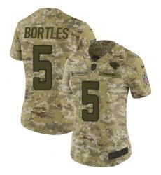 Women's Nike Jacksonville Jaguars #5 Blake Bortles Limited Camo 2018 Salute to Service NFL Jersey