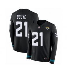Men's Nike Jacksonville Jaguars #21 A.J. Bouye Limited Black Therma Long Sleeve NFL Jersey