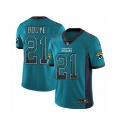 Men's Nike Jacksonville Jaguars #21 A.J. Bouye Limited Teal Green Rush Drift Fashion NFL Jersey