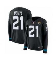 Women's Nike Jacksonville Jaguars #21 A.J. Bouye Limited Black Therma Long Sleeve NFL Jersey