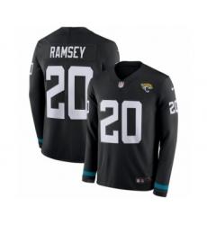Youth Nike Jacksonville Jaguars #21 A.J. Bouye Limited Black Salute to Service Therma Long Sleeve NFL Jersey