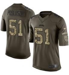 Men's Nike Jacksonville Jaguars #51 Paul Posluszny Elite Green Salute to Service NFL Jersey