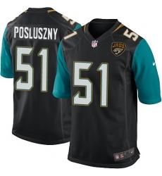 Men's Nike Jacksonville Jaguars #51 Paul Posluszny Game Black Alternate NFL Jersey