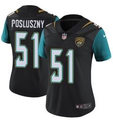 Women's Nike Jacksonville Jaguars #51 Paul Posluszny Black Alternate Vapor Untouchable Limited Player NFL Jersey
