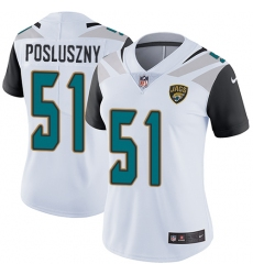 Women's Nike Jacksonville Jaguars #51 Paul Posluszny Elite White NFL Jersey