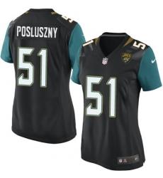 Women's Nike Jacksonville Jaguars #51 Paul Posluszny Game Black Alternate NFL Jersey