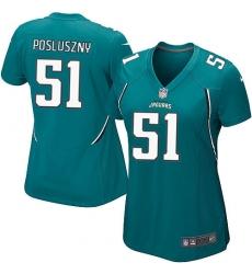 Women's Nike Jacksonville Jaguars #51 Paul Posluszny Game Teal Green Team Color NFL Jersey