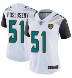 Women's Nike Jacksonville Jaguars #51 Paul Posluszny White Vapor Untouchable Limited Player NFL Jersey