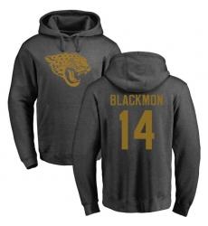 NFL Nike Jacksonville Jaguars #14 Justin Blackmon Ash One Color Pullover Hoodie