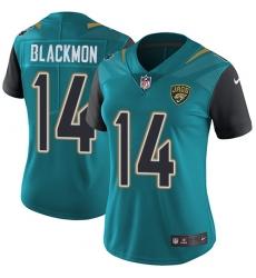 Women's Nike Jacksonville Jaguars #14 Justin Blackmon Elite Teal Green Team Color NFL Jersey