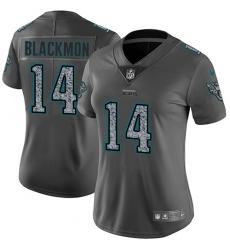 Women's Nike Jacksonville Jaguars #14 Justin Blackmon Gray Static Vapor Untouchable Limited NFL Jersey