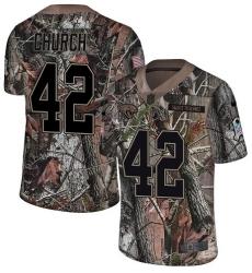 Men's Nike Jacksonville Jaguars #42 Barry Church Camo Rush Realtree Limited NFL Jersey