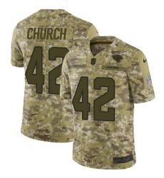 Men's Nike Jacksonville Jaguars #42 Barry Church Limited Camo 2018 Salute to Service NFL Jersey