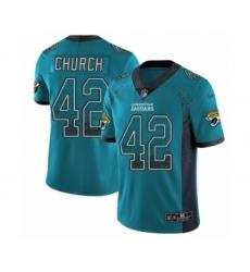 Men's Nike Jacksonville Jaguars #42 Barry Church Limited Teal Green Rush Drift Fashion NFL Jersey