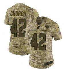 Women's Nike Jacksonville Jaguars #42 Barry Church Limited Camo 2018 Salute to Service NFL Jersey