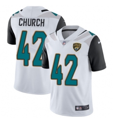 Youth Nike Jacksonville Jaguars #42 Barry Church White Vapor Untouchable Limited Player NFL Jersey